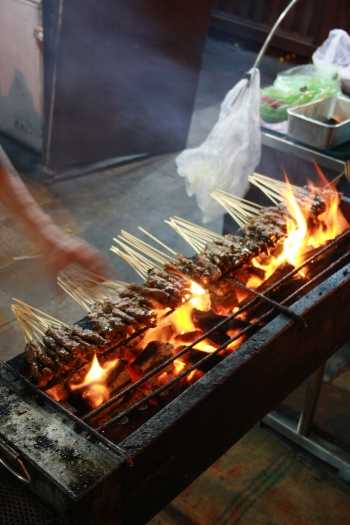 sate on the bbq